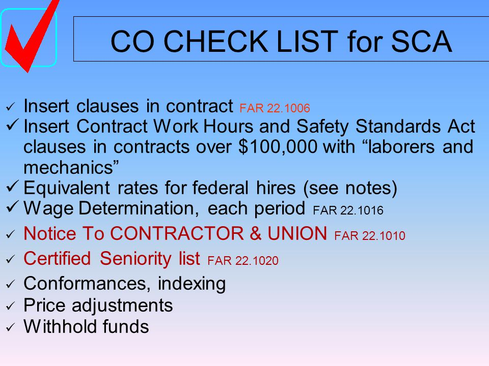 Service Contract Act applies to the primary portion of the contract Davis-Bacon application to: Repair, Alter, Paint Walsh-Healey application to: Commodities, Parts, Remanufacturing MIXED CONTRACTS Statutes require: