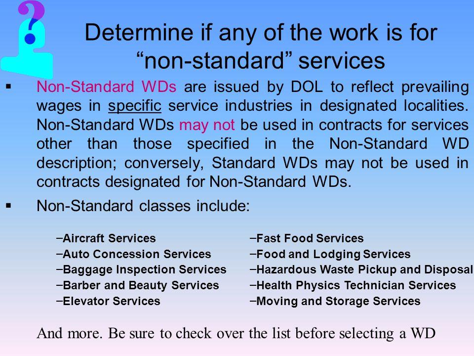 Non-Standard WDs obtained via the e98 process