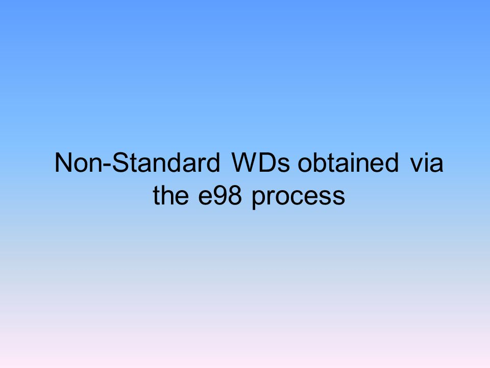What's the e98 process.Select this option.