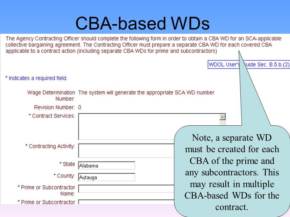 SAMPLE OF CBA-BASED WD WAGE DETERMINATION NO: 8X-XXXX REV (10) AREA: NC, CAMDEN REGISTER OF WAGE DETERMINATIONS UNDER   U.S.