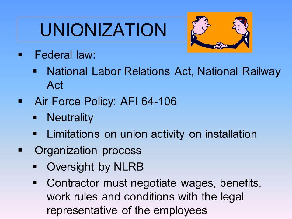 AFI 64-106 Notify regional Labor Advisor and Facility Labor Coordinator  Strike Plans: 1.