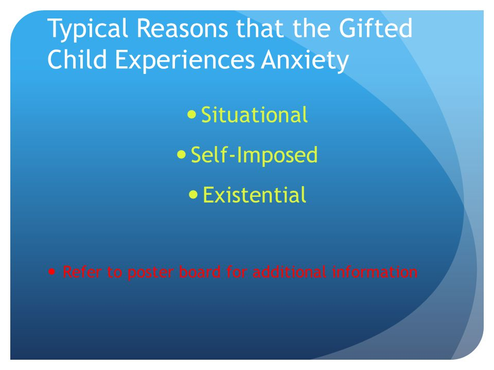 Tips to Help Gifted Kids with Anxiety/Stress Interpersonal Intrapersonal Contemplative Practices Refer to PowerPoint on Ipad for additional information
