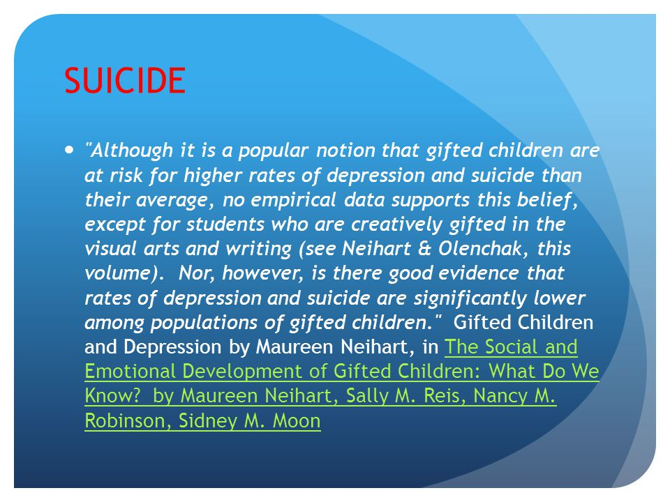SIGNS OF SUICIDE Changes in sleep and/or appetite patterns, Decline in school performance, Increased social withdrawal, Loll in interest and pleasure in previously enjoyable activities, Changes in appearance, for instance no longer caring for one s clothes, Preoccupation with themes of ones death or the theme of death itself, Increased irritability and behavioral problems, Giving away important possessions, Use of drugs and alcohol, History of a previous suicide attempt, History of abuse and neglect, History of learning disabilities and a sense of failure, Frequent somatic complaints, al expressions of self death statements such as I wish I were dead, No longer concerned about making plans for the future, Depressed mood.