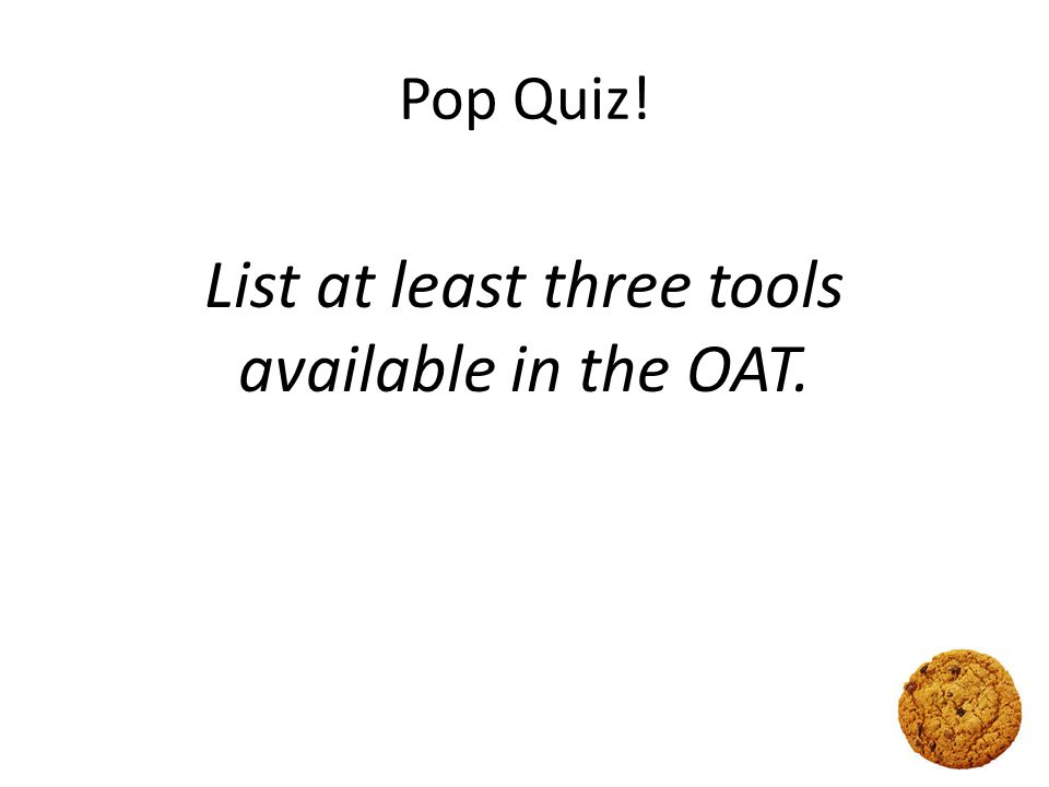 Your OA team is here to help.