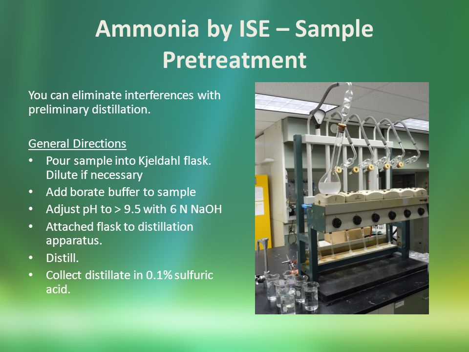 Ammonia by ISE – Sample Pretreatment