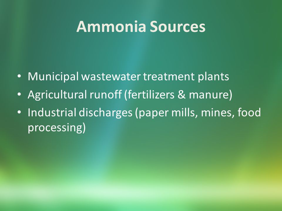 Phosphorus Sources Laundering or other cleaning Treatment of boiler waters Fertilizers (runoff) Water treatment chemicals