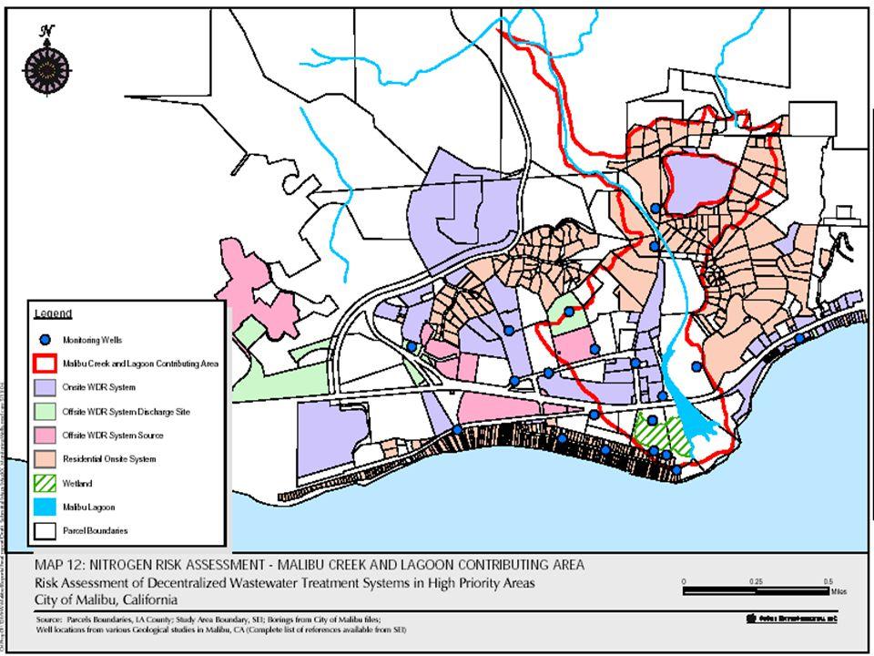 Los Angeles Regional Water Quality Control Board, November 4, 2004 27 Update – LARWQCB TMDL n Map of sludge injection areas