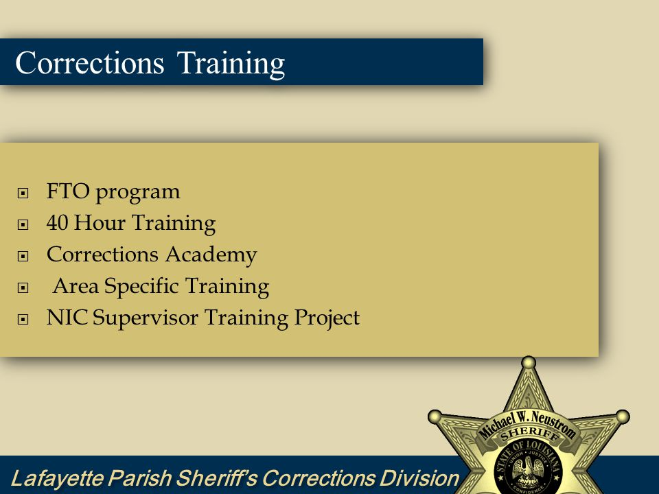Corrections Training Results