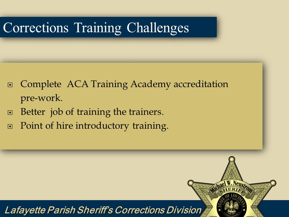 2010 Corrections Training Goals