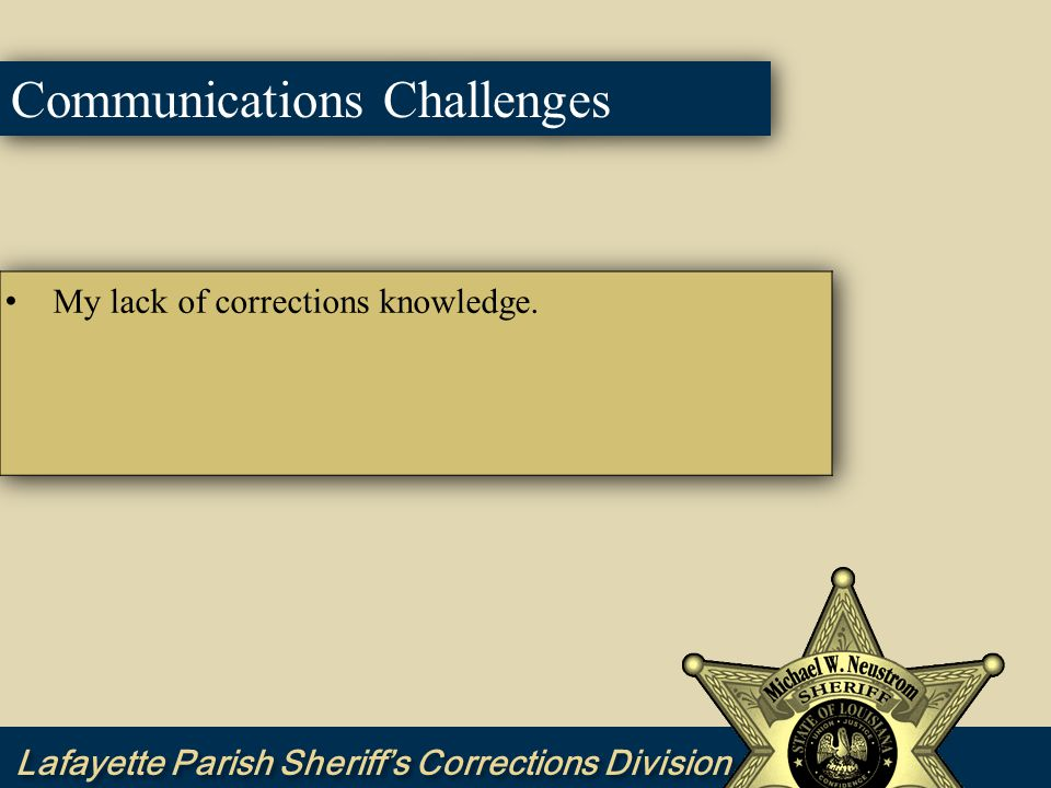 Corrections Communications Goals