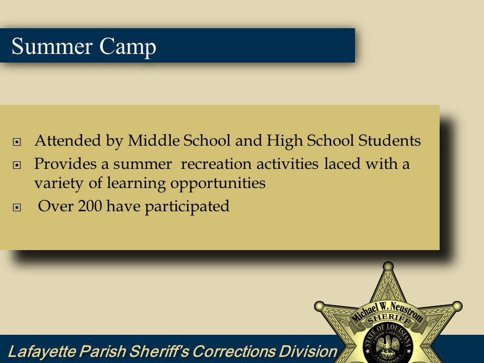 Summer Camp Participation