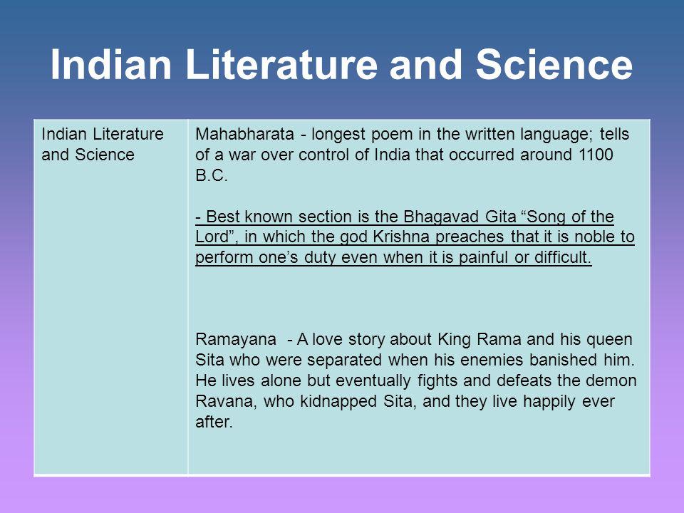 Bhagavad Gita Read the Primary Source insert on p.