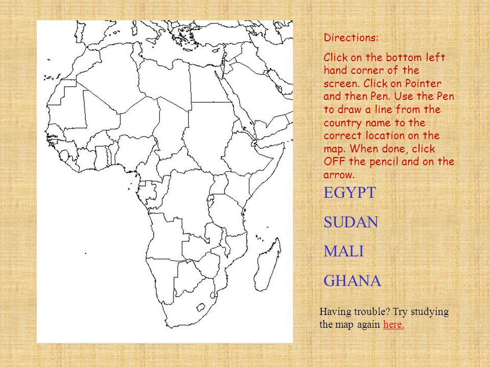 Mali Ghana Nubia Songhay Africa was the home of four great civilizations; Nubia, Ghana, Mali and Songhay.