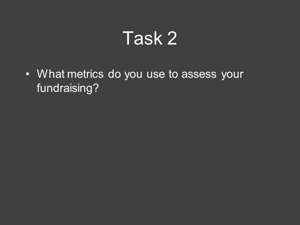 Task 3 What goals do you have for your fundraising.