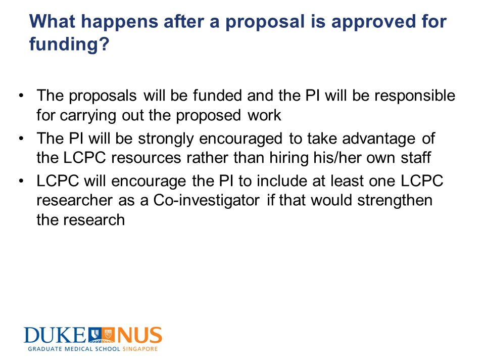 Proposals approved for funding The PI or a delegate will be expected to make regular updates on the project status at the research forums This will provide an opportunity to address any concerns that may arise with the research in a timely manner
