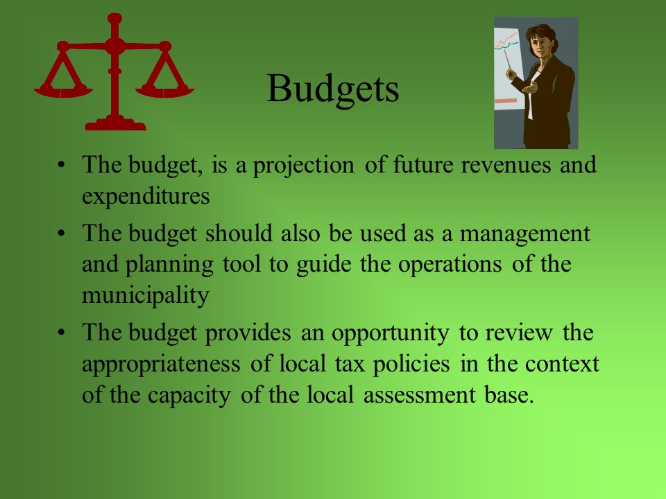 Uses of the Budget Council Monitor and control departments/programs Establishing priorities for present and future work plans Communicating plans to constituents Resolve conflict (allocate scarce resources)