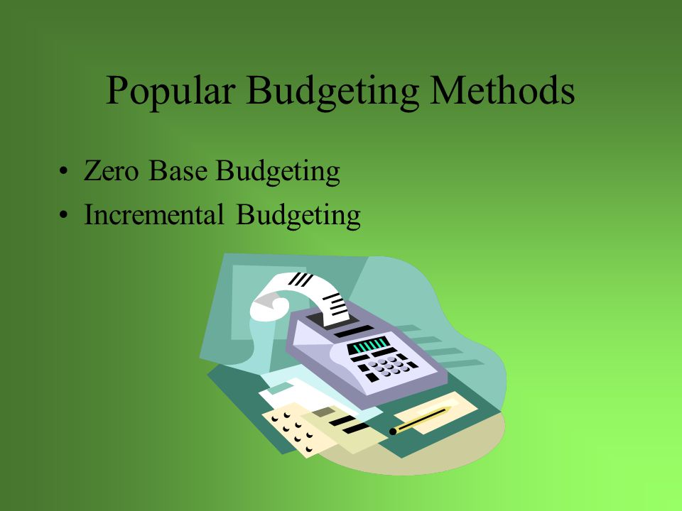 Zero Based Zero-based budgeting (1977 President Jimmy Carter) federal budget each programme is examined in order to justify its existence, and is compared to alternative programmes.