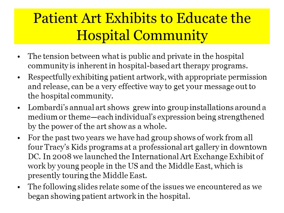 The Problem of Artistic Quality An art show from an art therapy program is different than a traditional art show.