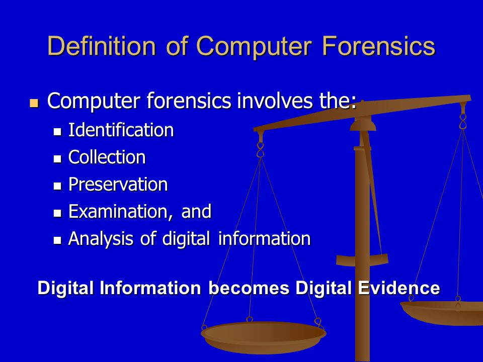 What is Digital Evidence.
