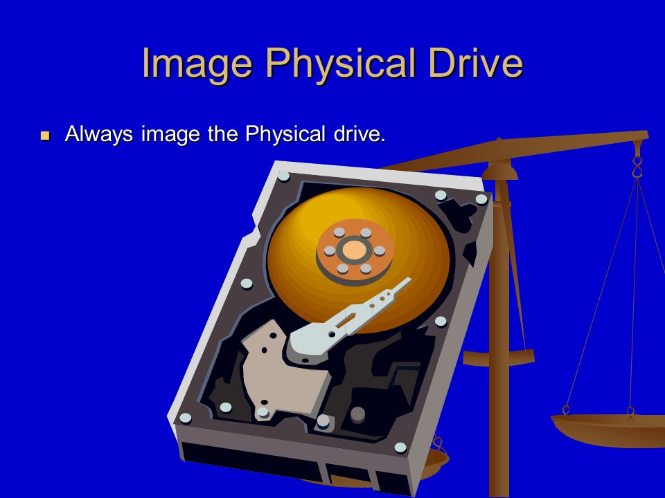 Imaging Remove hard drive from the Write Block device.