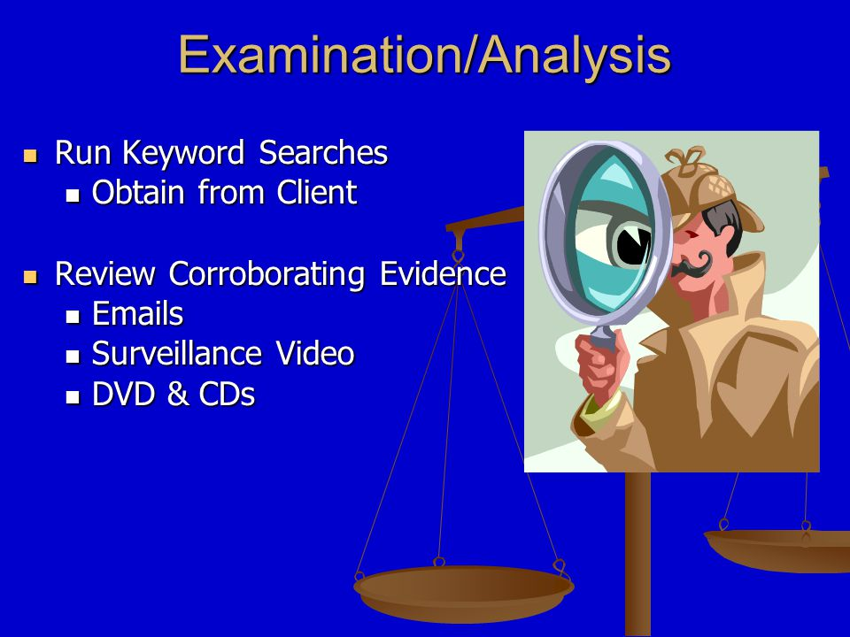 Forensic Report The auditor will issue a report to appropriate personnel once the examination is completed.