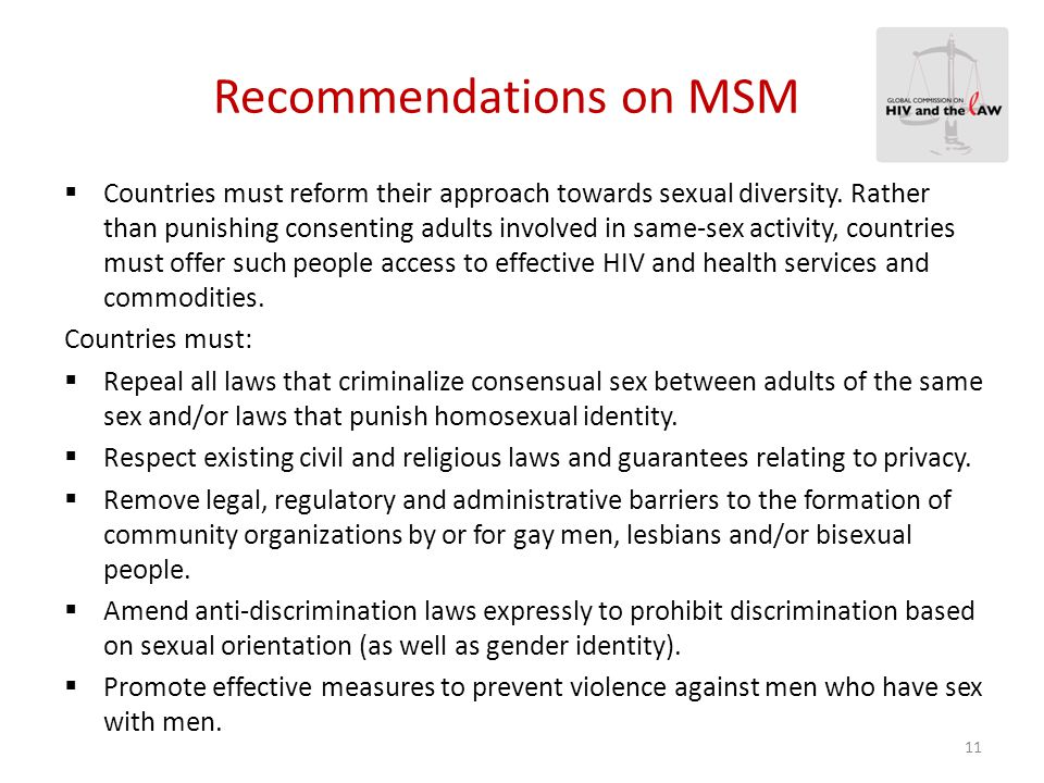 Recommendations on Sex Work  Countries must reform their approach towards sex work.