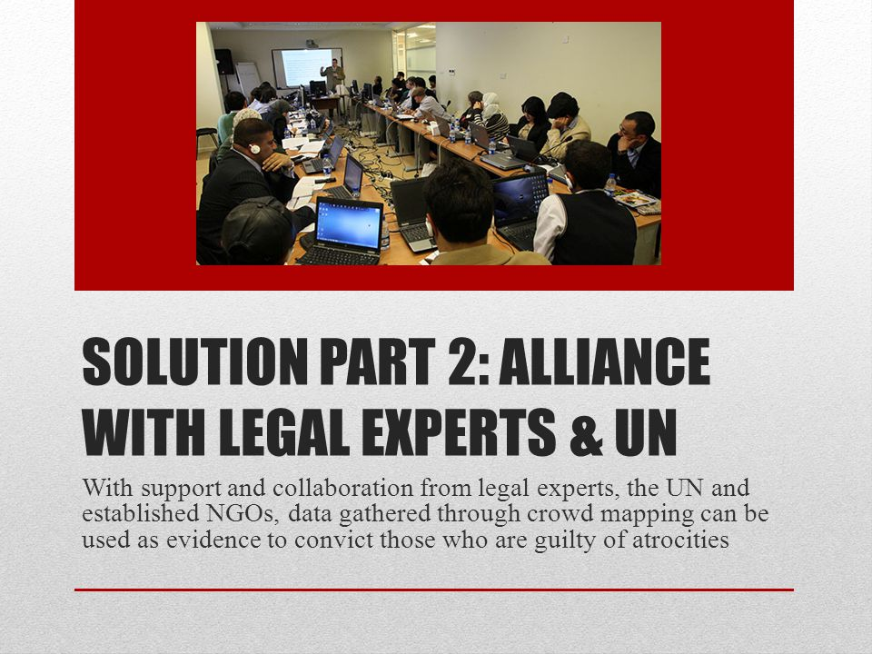 Collaboration & Cooperation NGOs, Legal Experts and Regional Experts