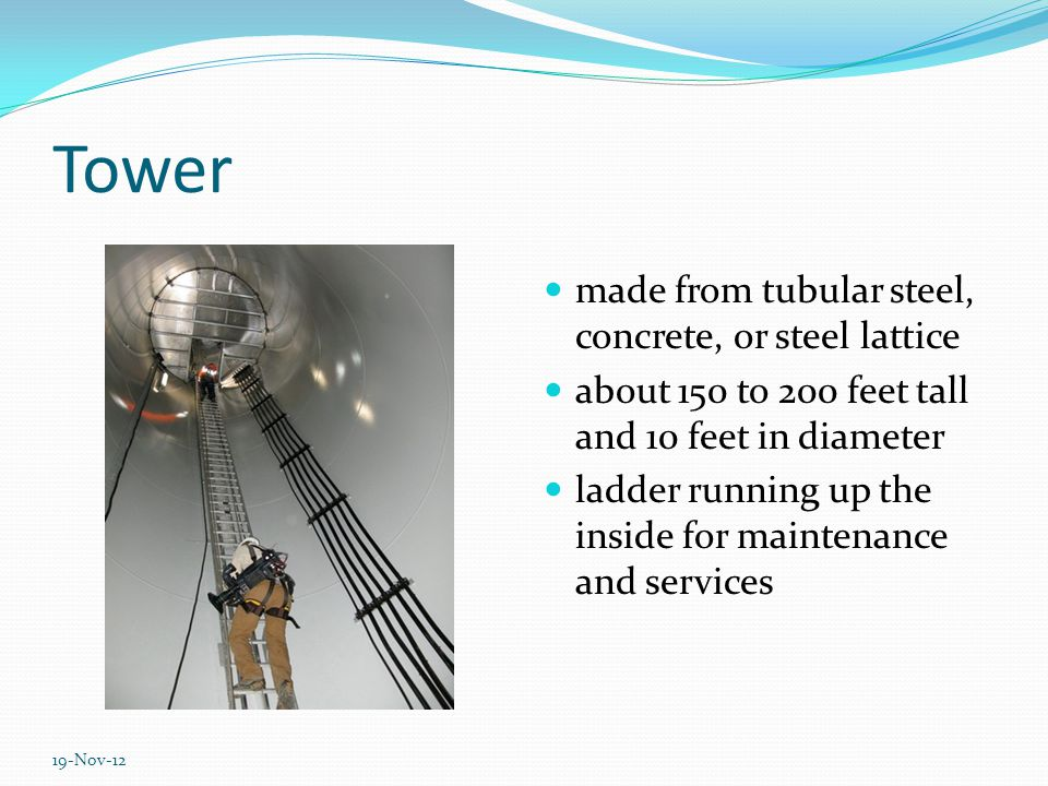 Working principle of wind turbine Wind Mechanical energy Electricity A video clip (3,5 minutes) for better show up :) http://www.youtube.com/watch?v=LNXTm7aHvWc&fe ature=related 19-Nov-12
