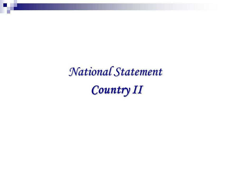 Current Status of the Country 1.Nuclear power stations are not planned in the county.