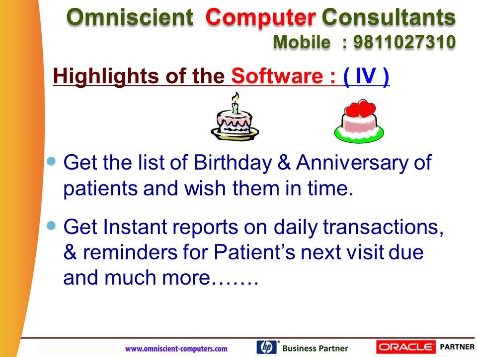 Omniscient Computer Consultants Mobile : 9811027310 Omniscient Computer Consultants Mobile : 9811027310 Online Support on Video & Chat mode.