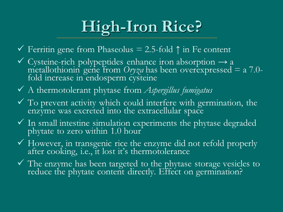 Golden Rice was possible because…..(I.