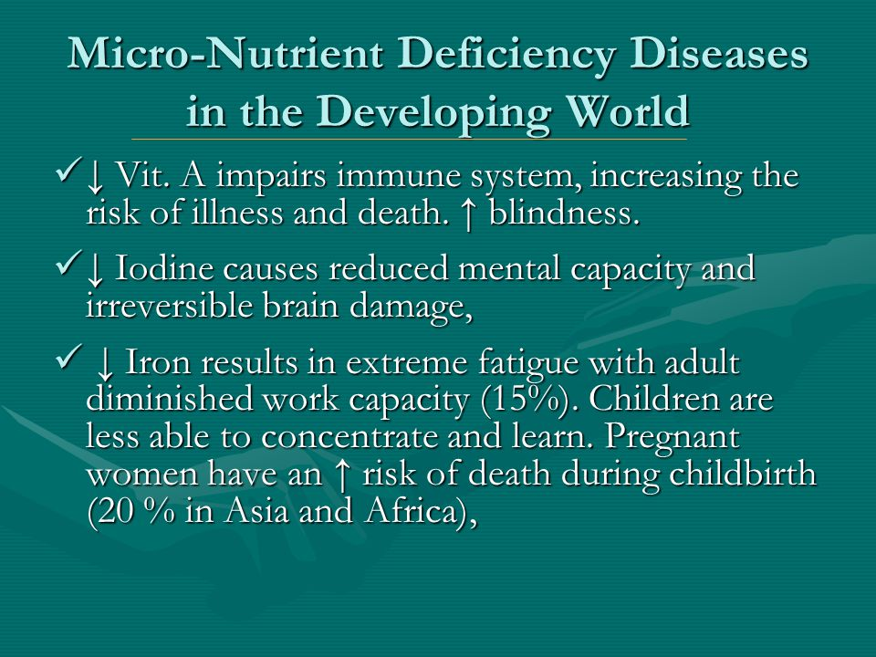 Chronic Disease in the Developed World Heart disease and Cancer cause most deaths Heart disease and Cancer cause most deaths Chronic diseases are associated with……..