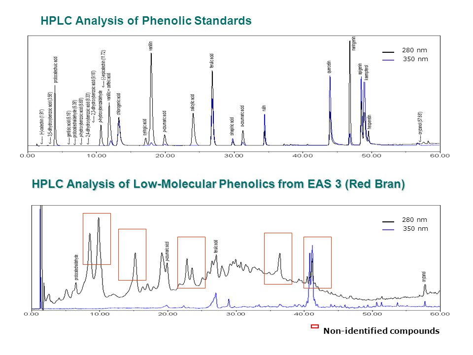 Polymeric Phenolics Simple Phenolics A B HPLC-RP Separations of Rice Bran Ethyl Acetate Extracts.