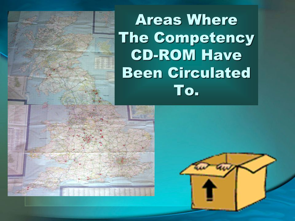 Areas Where The Competency CD-ROM Have Been Circulated To.