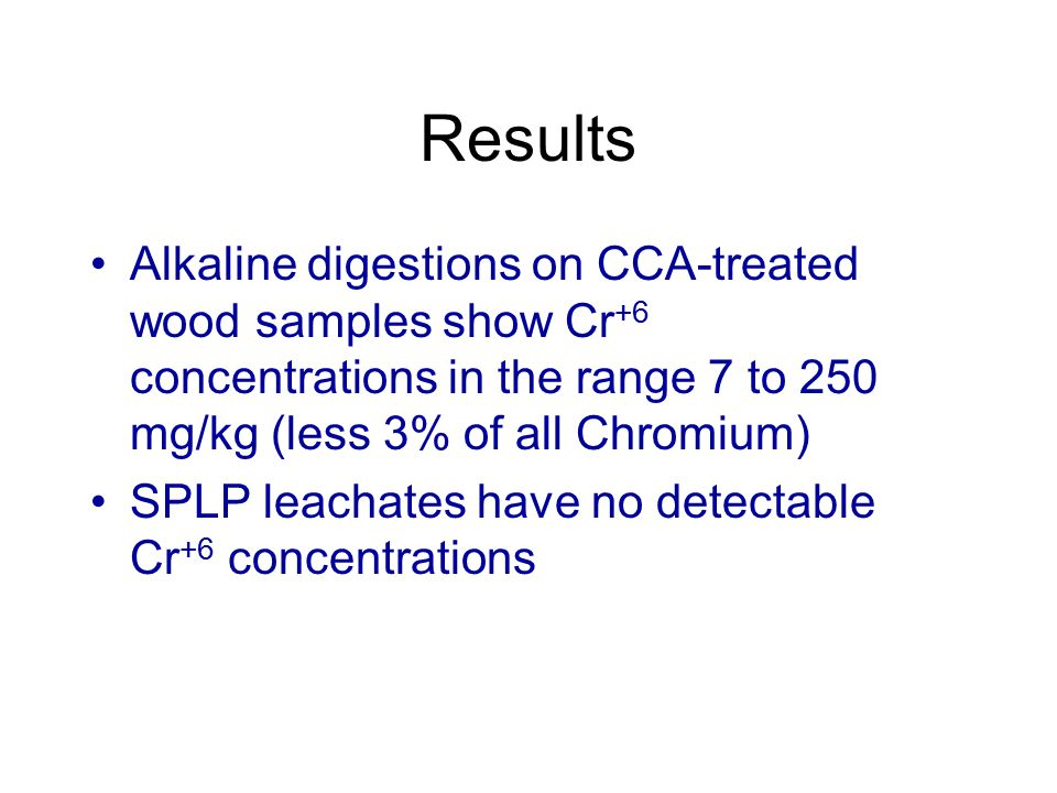 Experiment 3 Under what leaching conditions would Cr +6 form?