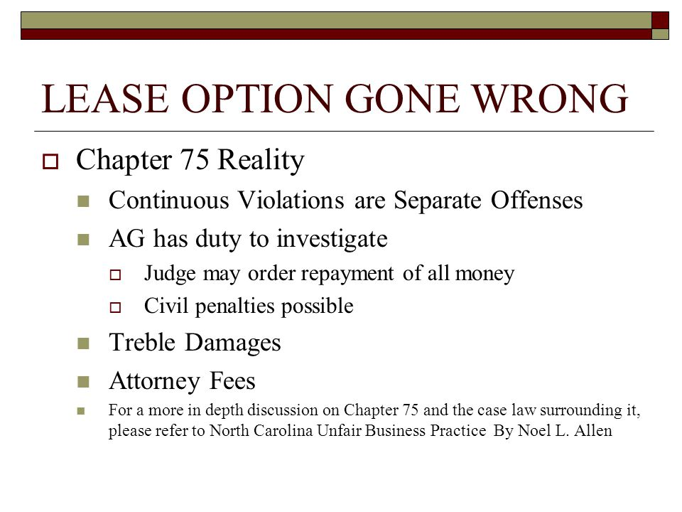 LEASE OPTION GONE WRONG  Tenant Recovery Chapter 75 Damages  Excess Fair Market Rent  Option Fee Equitable Relief