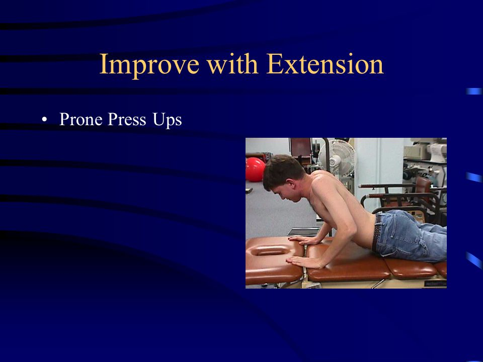 Self Correction for Extension Repeated Extension in Standing Performed every 30 minutes