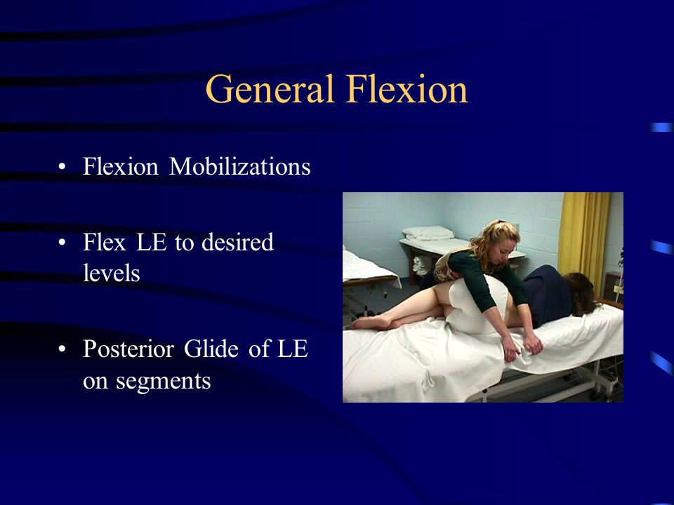 General Flexion for Home Slouched sitting Flexion stretches Flexion activity –Rower –Bike