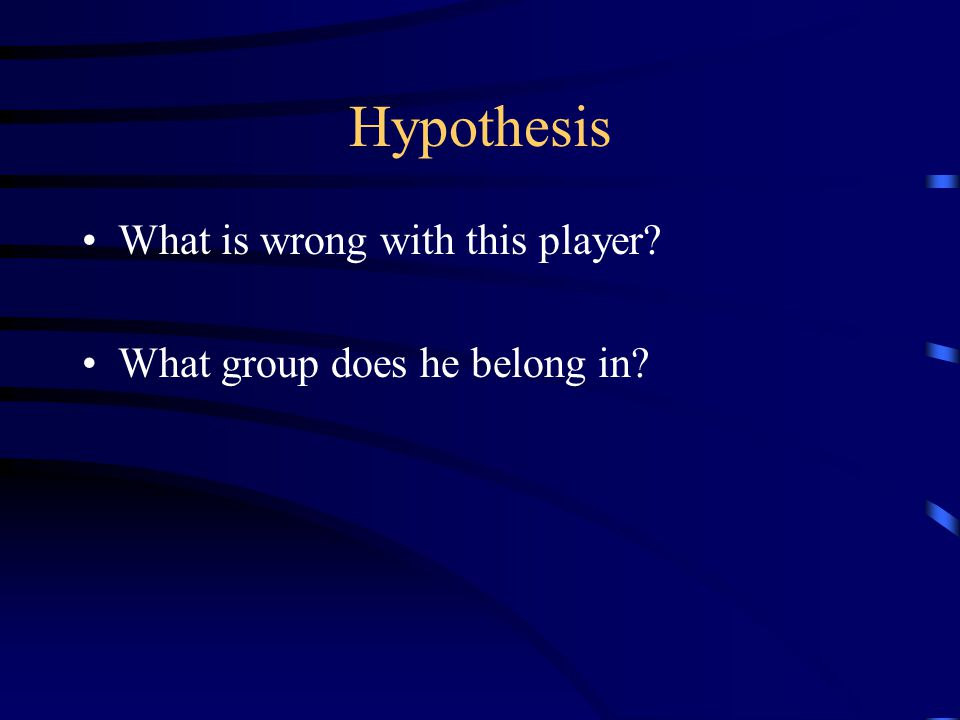 Hypothesis Status Quo Closing Restriction Specific Mobilization How would you treat him.