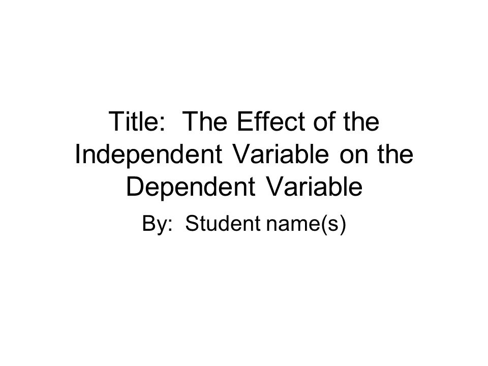 Title Score Card Pts EarnedPts Possible Capital Letters where appropriate for a title 3 Independent Variable 2 Dependent Variable 2 Effect 3 Total010