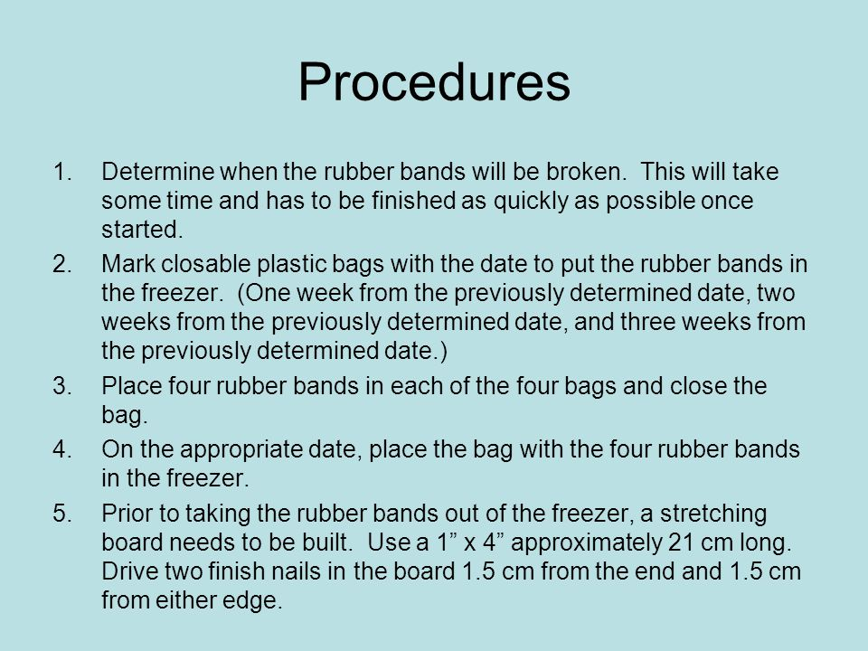 Procedures, cont.6.