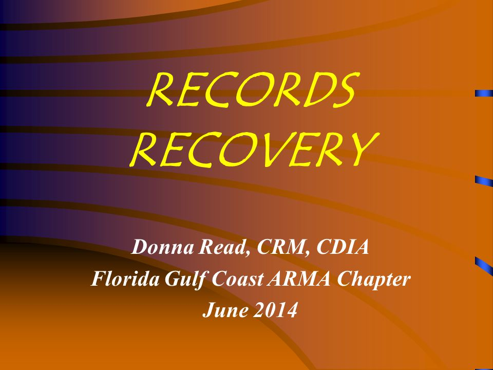 Records Recovery  Fire--Building  Building can be unst  Building can be unstable  Bare electrical wires  Water and smoke damage  Extinguishing chemi  Extinguishing chemicals  Fire--Records  Completely burned  Charred  Smoke damage  Water damage from fire fighting and sprinklers Records Center Fire, 1973