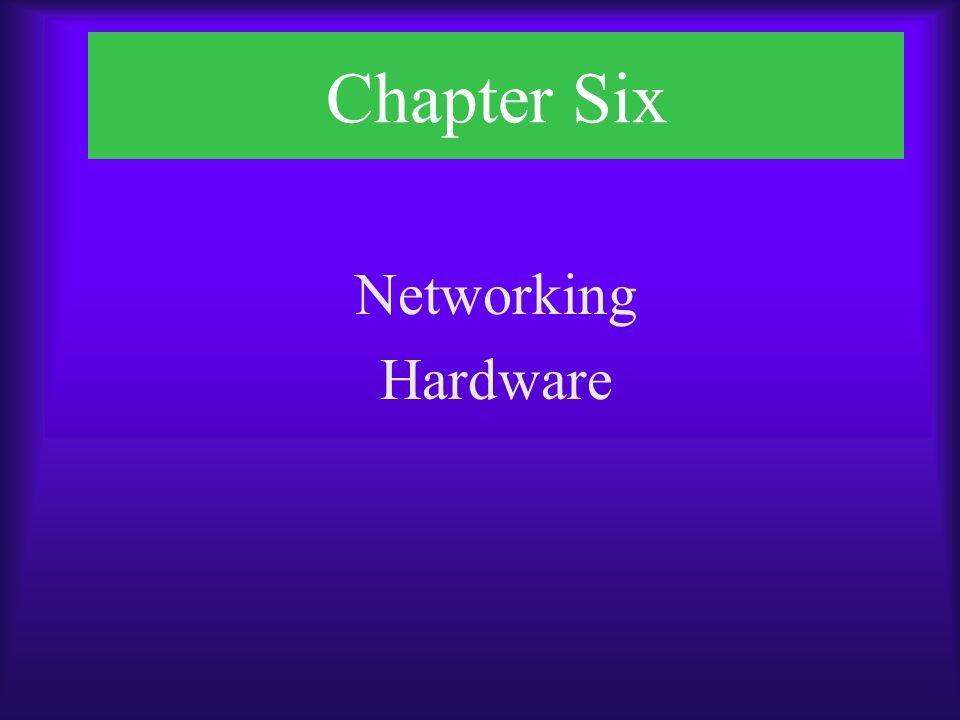 Chapter Objectives  Identify functions of LAN connectivity hardware  Install and configure a network interface card (NIC)  Identify problems associated with connectivity hardware  Describe the factors involved in choosing a NIC, hub, switch, or router  Describe the uses of repeaters, hubs, bridges, switches, and gateways  Describe the function of routing protocols