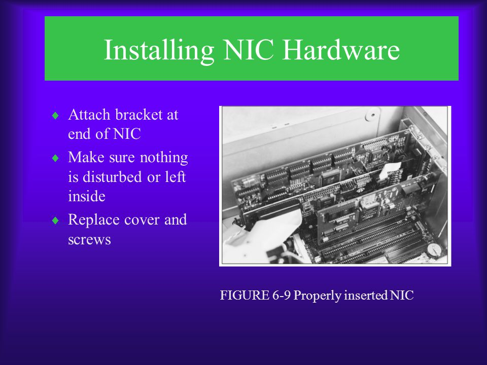 Installing NIC Hardware FIGURE 6-10 Installing a PCMCIA NIC