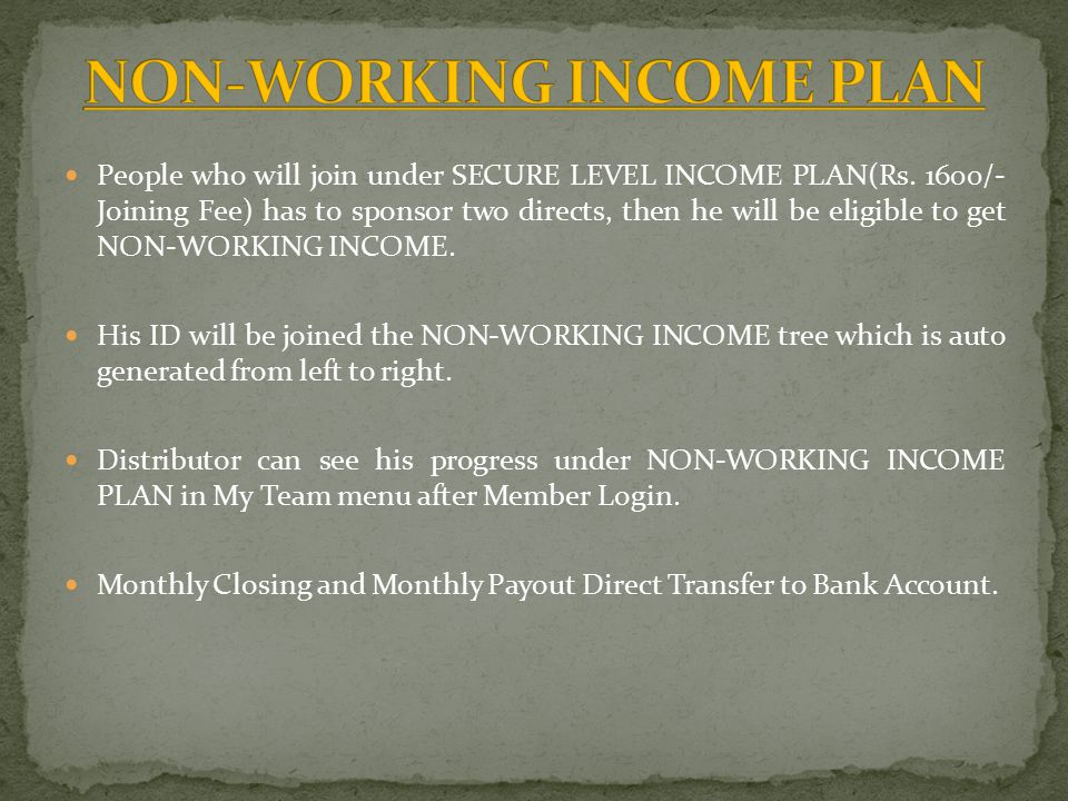 People who will join under SECURE LEVEL INCOME PLAN(Rs.