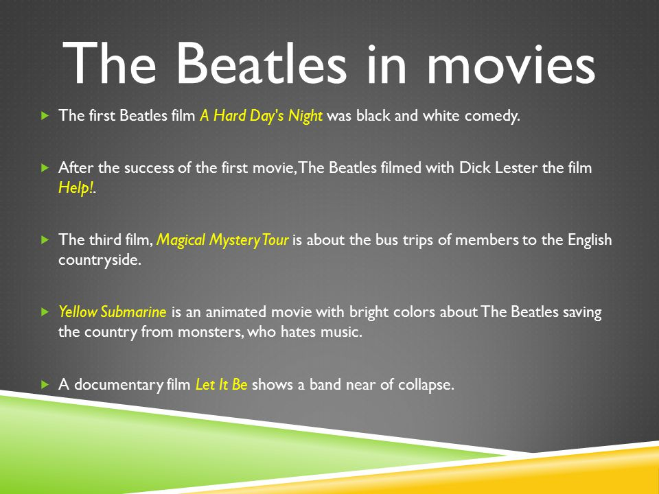 Picture from movie – Yellow Submarine.