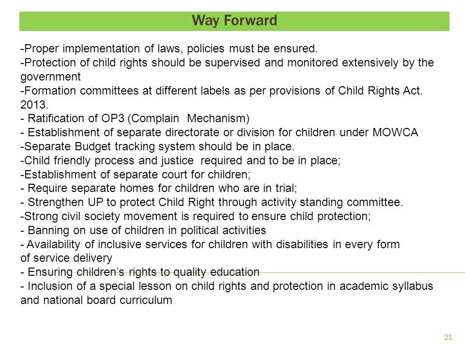 Way Forward; Contd….- Govt.