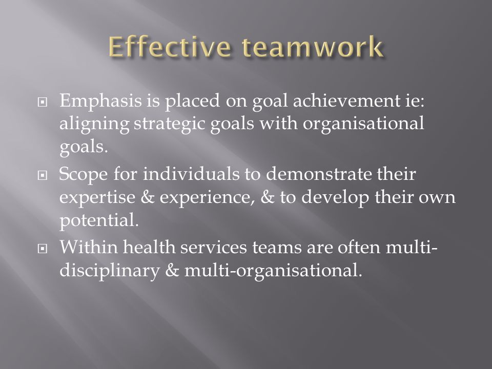 How does a team differ from a group of people working in the same place.