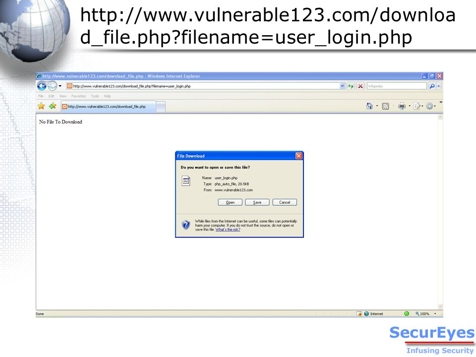 Internal Affairs 3 PHP Engine User's Browser URL:/download_file.php.