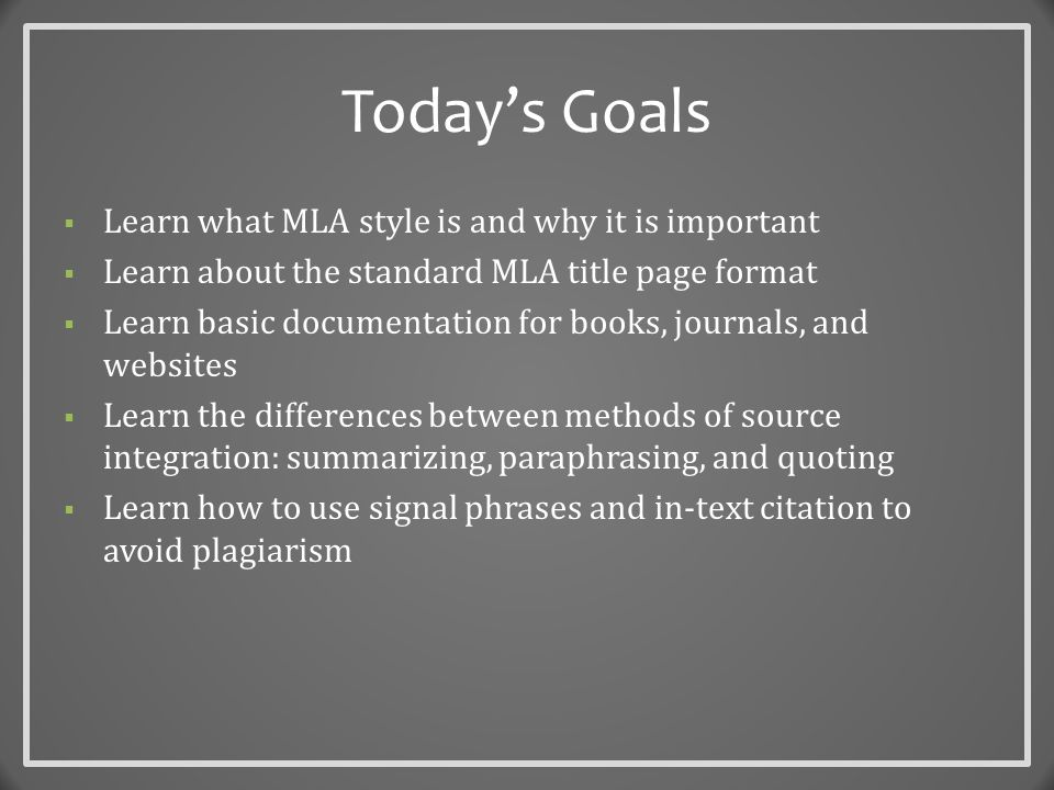What is MLA, and why use it.